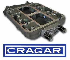 This basic CRAGER 392 hemi blower manifold