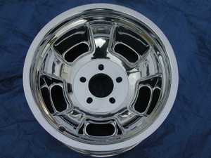 Halibrand style  aluminum reproduction  wheels
