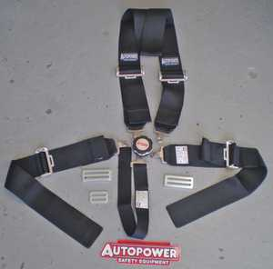 NEW! Autopower 5 point dragster seatbelt/harness